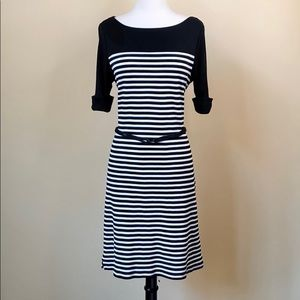 Ralph Lauren Striped Half Sleeve Sheath Dress